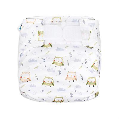 Многоразовый подгузник для новорожденных GlorYes! Обаятельные совы all-in-one
