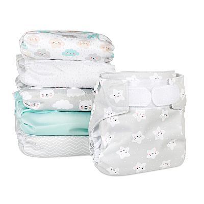 Набор многоразовых подгузников для новорожденных GlorYes! Воздушная нежность