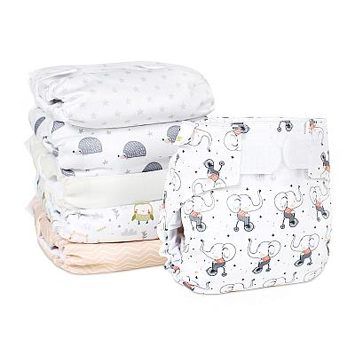 Набор многоразовых подгузников для новорожденных GlorYes! Нюдовое счастье