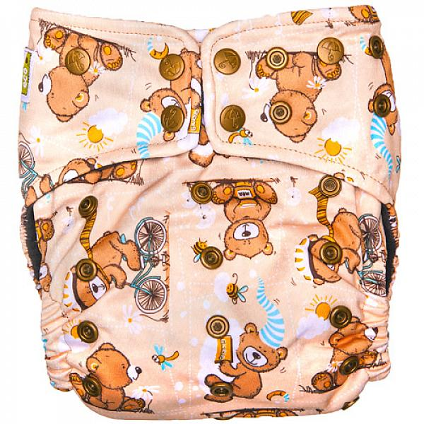 Купить Многоразовый подгузник GlorYes! PREMIUM Медвежонок 3-18 кг + два вкладыша