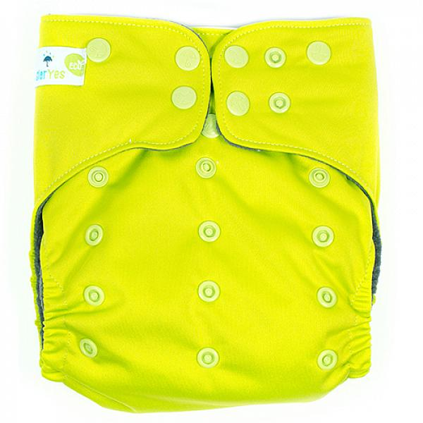 Купить Многоразовый подгузник GlorYes! PREMIUM Лайм 3-18 кг + два вкладыша, GlorYes!
