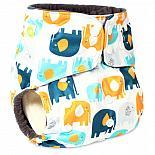 Многоразовый подгузник GlorYes! PREMIUM Добрые слонята 3-18 кг + два вкладыша