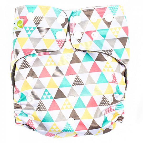 Купить Многоразовый подгузник GlorYes! PREMIUM LIMITED Треугольники 3-18 кг + два вкладыша