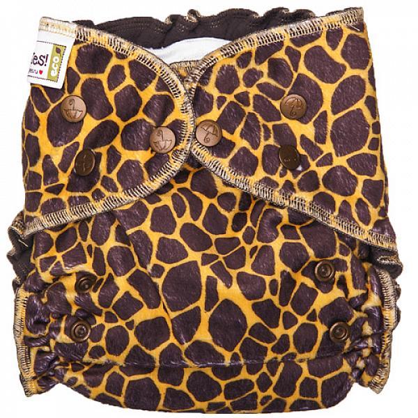 Многоразовый подгузник GlorYes! OPTIMA плюшевый NEW Жираф 3-18 кг + два вкладыша  - купить со скидкой