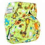 Многоразовый подгузник GlorYes! OPTIMA плюшевый Жирафы 3-15 кг + два вкладыша