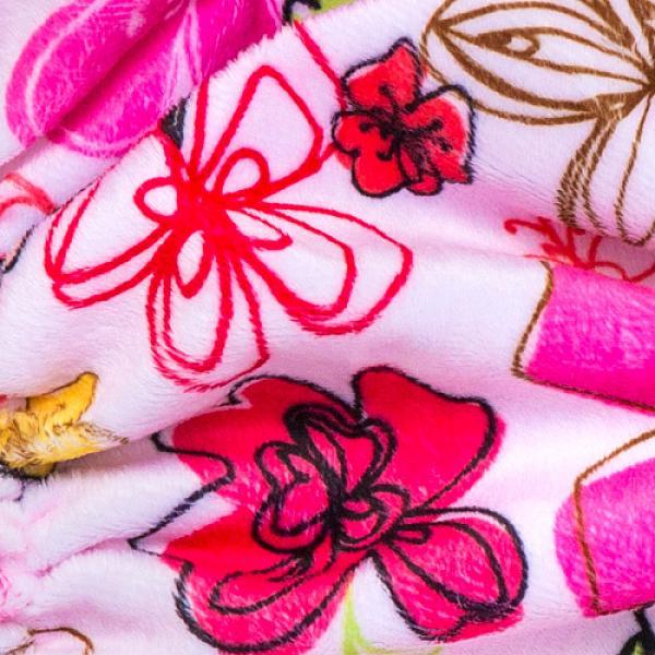 Купить Многоразовый подгузник GlorYes! OPTIMA плюшевый Цветы 3-15 кг + два вкладыша, GlorYes!