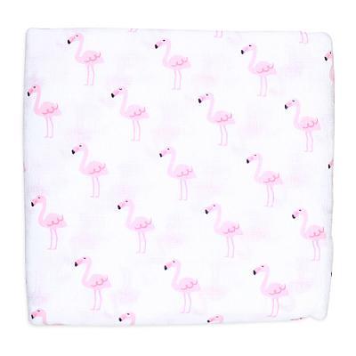 Муслиновая пеленка GlorYes! Фламинго 120х120 см