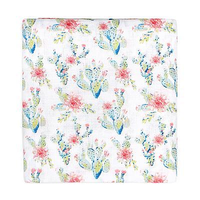 Муслиновая пеленка GlorYes! Цветущие кактусы 120х120 см