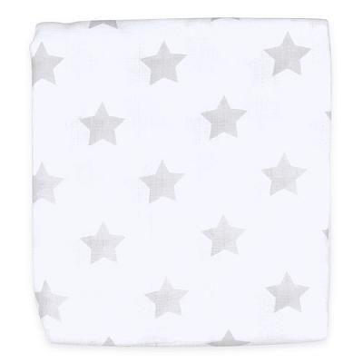 Муслиновая пеленка GlorYes! Серые звезды 120х120 см