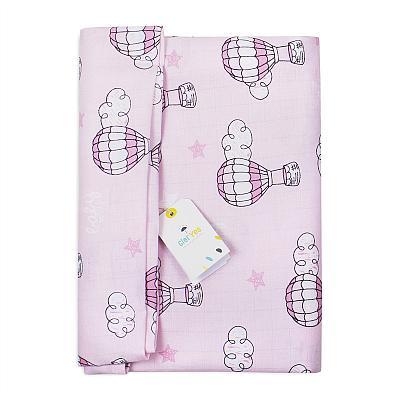 Муслиновая пеленка GlorYes! Воздушные шары розовые 130х130 см