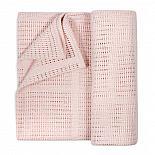 Хлопковый плед GlorYes! Розовая пудра 110х110 см
