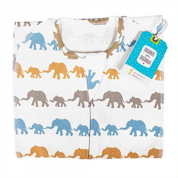 Пеленка-кокон GlorYes! (0-3,5 мес.) Слоны