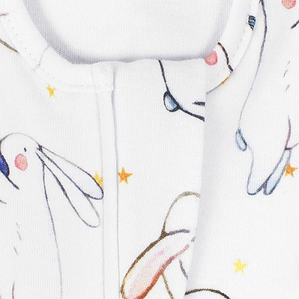 Пеленка-кокон GlorYes! (0-3,5 мес.) Белые зайки