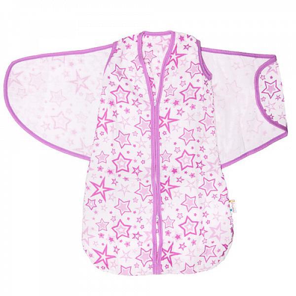 Спальный мешок GlorYes! (3-9 мес.) 2 в 1 Розовые звезды