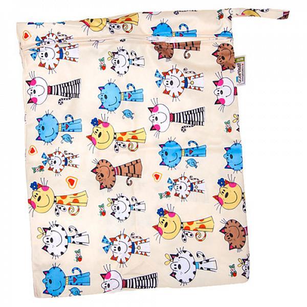 Купить Непромокаемая сумка GlorYes! Коты на бежевом