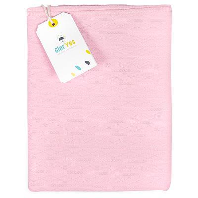 Трикотажная пеленка GlorYes! Розовые сны 100х90 см