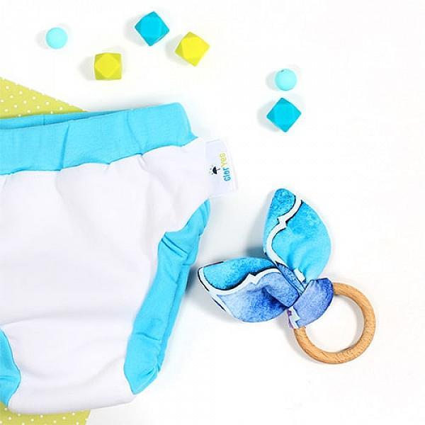 Купить Хлопковые трусики для приучения к горшку GlorYes! L Бело-голубые 14-20 кг